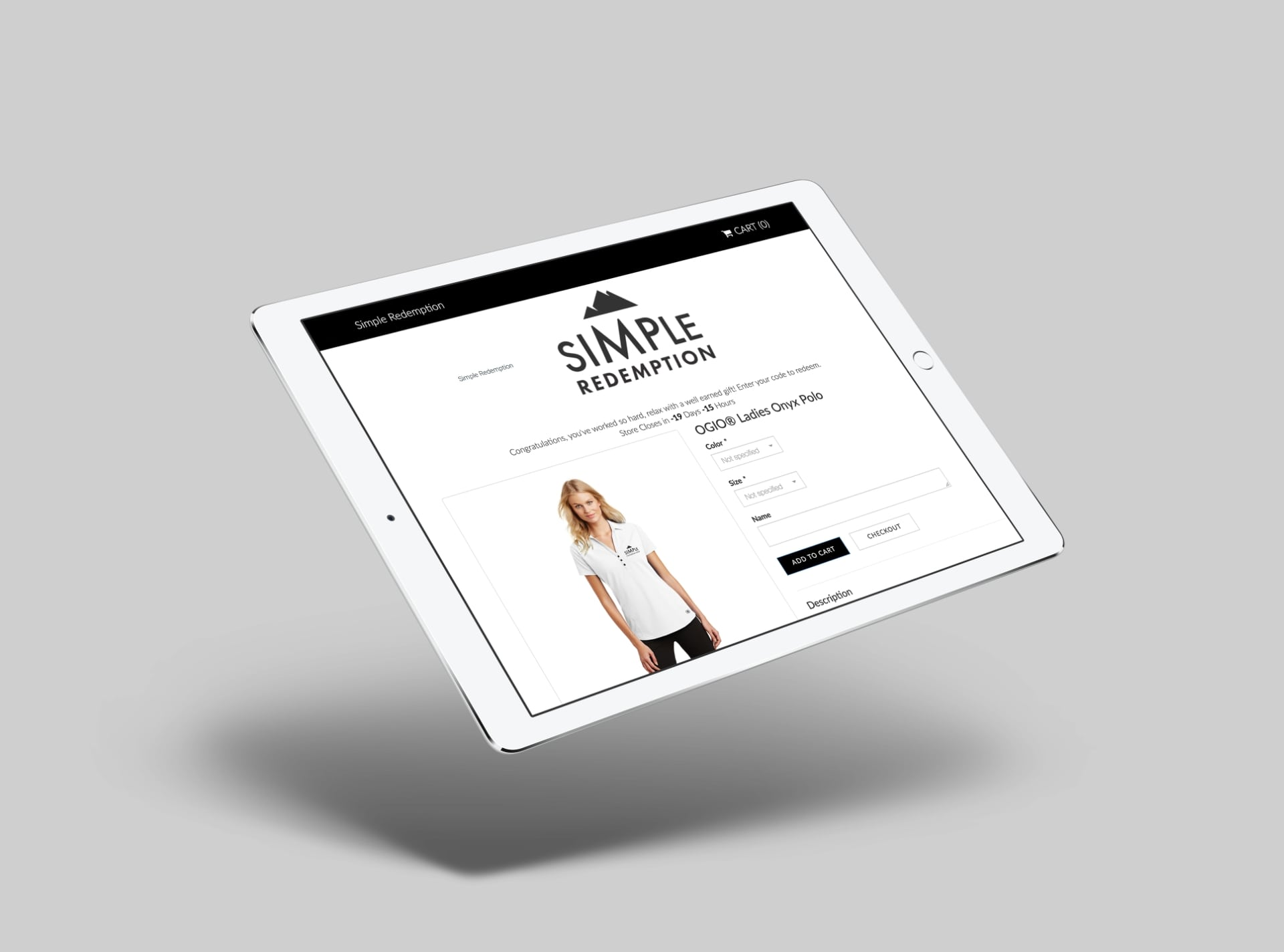 Simple Pop-Up Store Tablet Preview